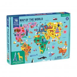 Mudpuppy Map of the World Geography Jigsaw Puzzle - 78 Piece