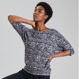 Asquith Bamboo Be Grace Batwing Top - Tiger
