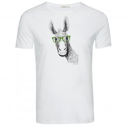 Green Bomb Donkey T-Shirt - White