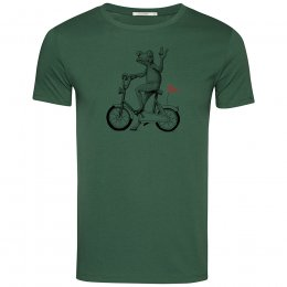 Green Bomb Bike Frog T-Shirt - Bottle Green