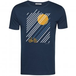 Green Bomb Bike Sunrise T-Shirt - Navy