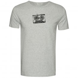 Green Bomb Lifestyle Bike Tape T-Shirt - Heather Grey