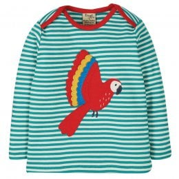 Frugi Bobby Parakeet Applique Top