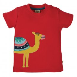 Frugi Little Creature Camel Applique Top
