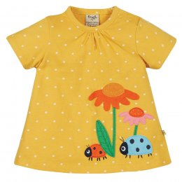 Frugi Eva Flower Applique Top