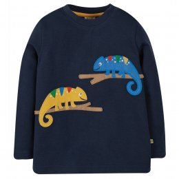 Frugi Adventure Chameleon Applique Top