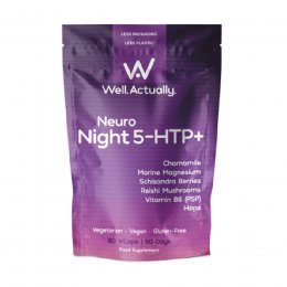 Well Actually Neuro Night 5-HTP  - 60 Capsules
