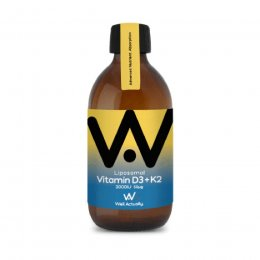 Well Actually Liposomal Liquid Vitamin D3 (2000IU) & K2 - 300ml