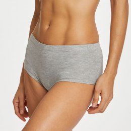 Thought Leah Organic Short Briefs - Grey Marle