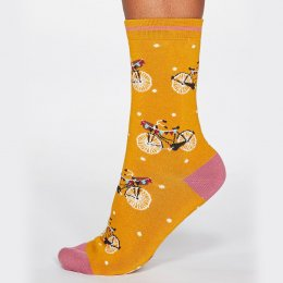 Thought Sunflower Gladys Bicycle Bamboo Socks - UK 4-7