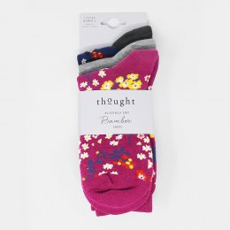 Thought Rozalia Floral Bamboo Sock Pack - 3 Pairs