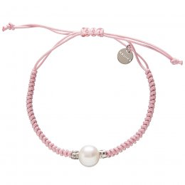 Kashka London Adira Fresh Water Shell Friendship Bracelet - Pink