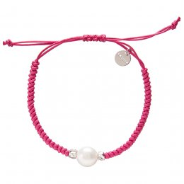Kashka London Adira Fresh Water Shell Friendship Bracelet - Magenta