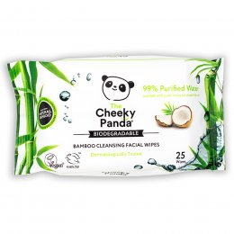 The Cheeky Panda Biodegradable Facial Cleansing Wipes - Coconut - 25 Wipes