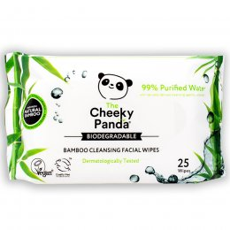 The Cheeky Panda Biodegradable Facial Cleansing Wipes - Unscented - 25 Wipes