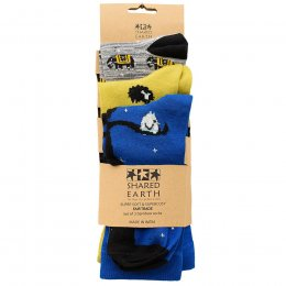 Fair Trade Animal Bamboo Socks - UK3-7 - 3 Pairs