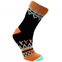 Fair Trade Black & Orange Bamboo Socks - UK3-7