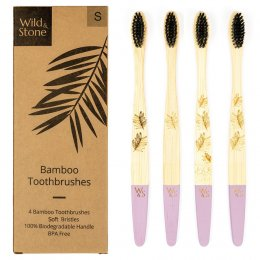 Wild & Stone Adult Bamboo Toothbrush - Soft - Pack of 4
