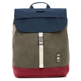 Lefrik Scout Recycled Backpack - Multi Navy