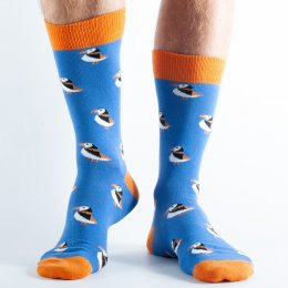 Doris & Dude Royal Blue Puffin Bamboo Socks - UK3-7