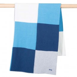 Kite Patchwork Knit Blanket - Blue