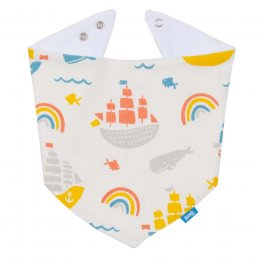 Kite Ship Ahoy Bib