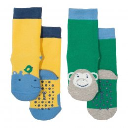 Kite Hippo Grippy Socks