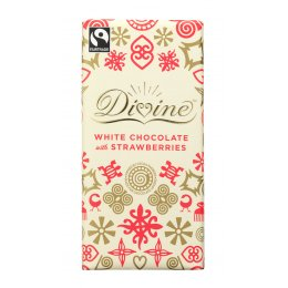 Divine White Chocolate with Strawberries sharing bar