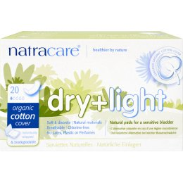 Natracare Organic Cotton Dry & Light Incontinence Pads - 20