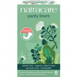 Natracare Organic Cotton Curved Panty Liners - 30