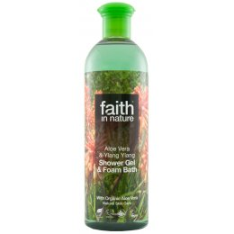 Faith In Nature Aloe Vera & Ylang Ylang Shower Gel & Bath Foam - 400ml