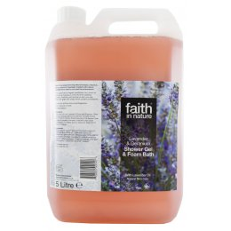 Faith In Nature Lavender & Geranium Shower Gel & Bath Foam - 5L