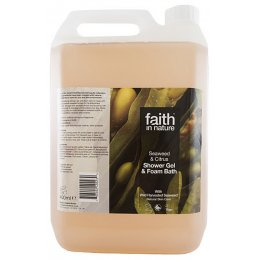 Faith In Nature Seaweed  & Citrus Shower Gel & Bath Foam - 5L