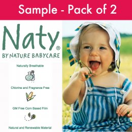 Naty by Nature Babycare Disposable Nappies - Sample Pack of 2 Nappies