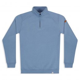 Men's Nevis Quarter Zip Sweatshirt - Faded Denim