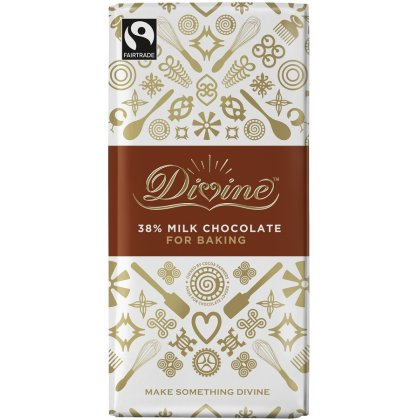 Divine 38 percent  Milk Chocolate Bar. Brilliant For Baking
