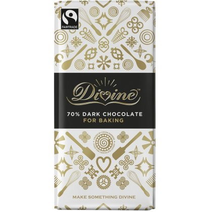 Divine 70 percent  Dark Chocolate Bar. Brilliant for Baking