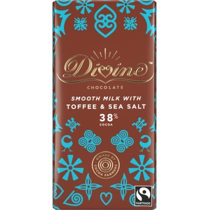 Divine 38 percent  Milk Chocolate with Toffee & Sea Salt