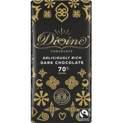 Divine 70 percent  Dark Chocolate