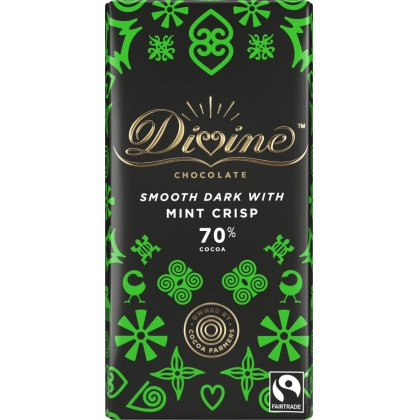 Divine 70 percent  Dark Chocolate with Mint