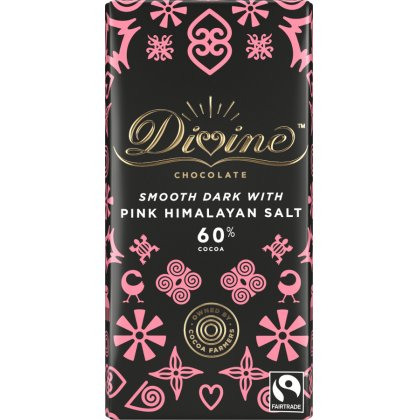 Divine Dark Chocolate with Pink Himalayan Salt