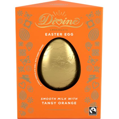 Divine Tangy Orange Milk Chocolate Easter Egg - 90g