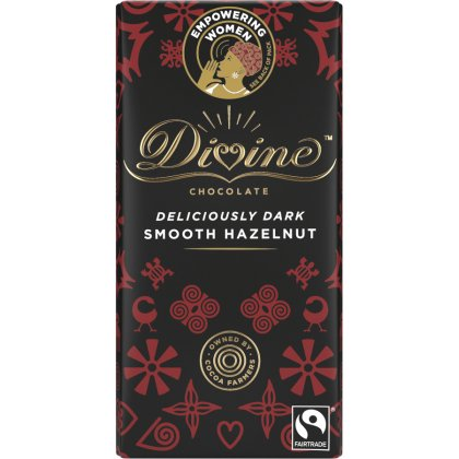 Divine Dark Chocolate with Hazelnut - 90g