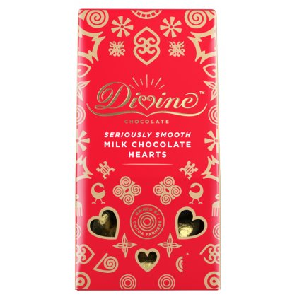Divine Milk Chocolate Hearts - 80g