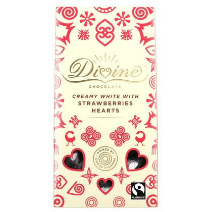Divine White Chocolate and Strawberry Hearts