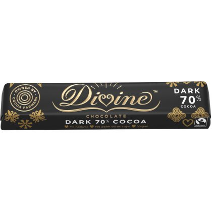 Divine 70 percent  Dark Chocolate Small Bar