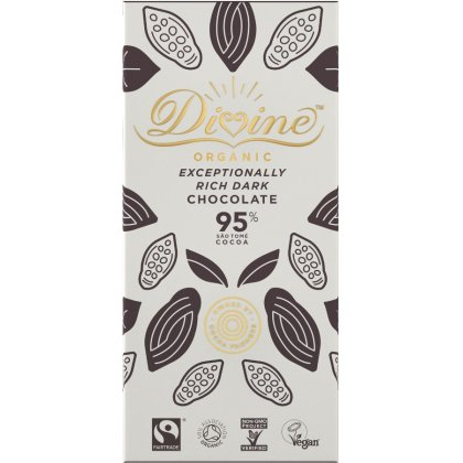 Organic 95 percent  Dark Chocolate Bar
