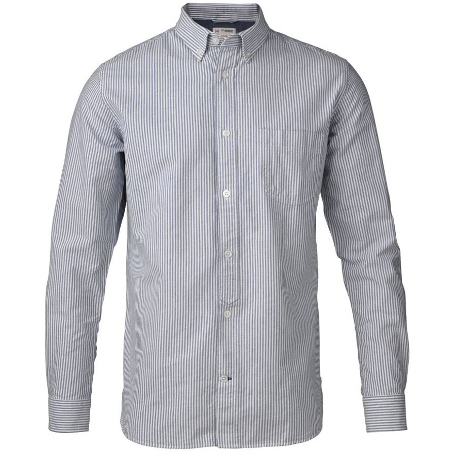 knowledge cotton organic button down striped oxford shirt skyway apparel