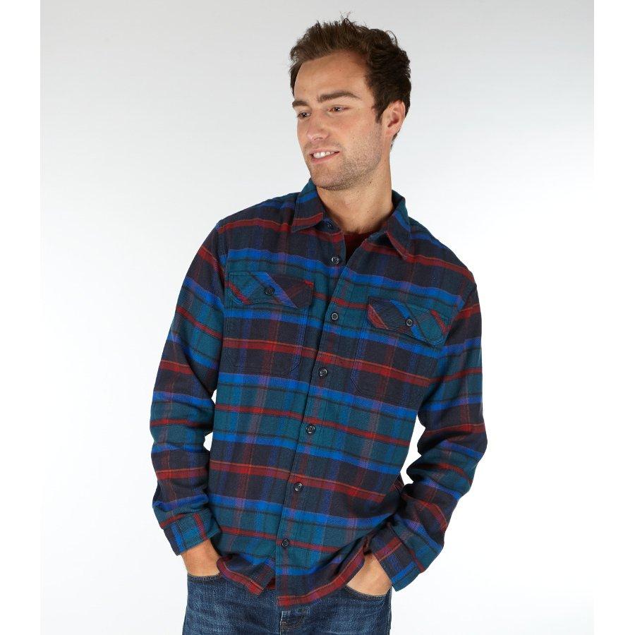 Patagonia Mens Buckstop Plaid Fjord Flannel Shirt Big