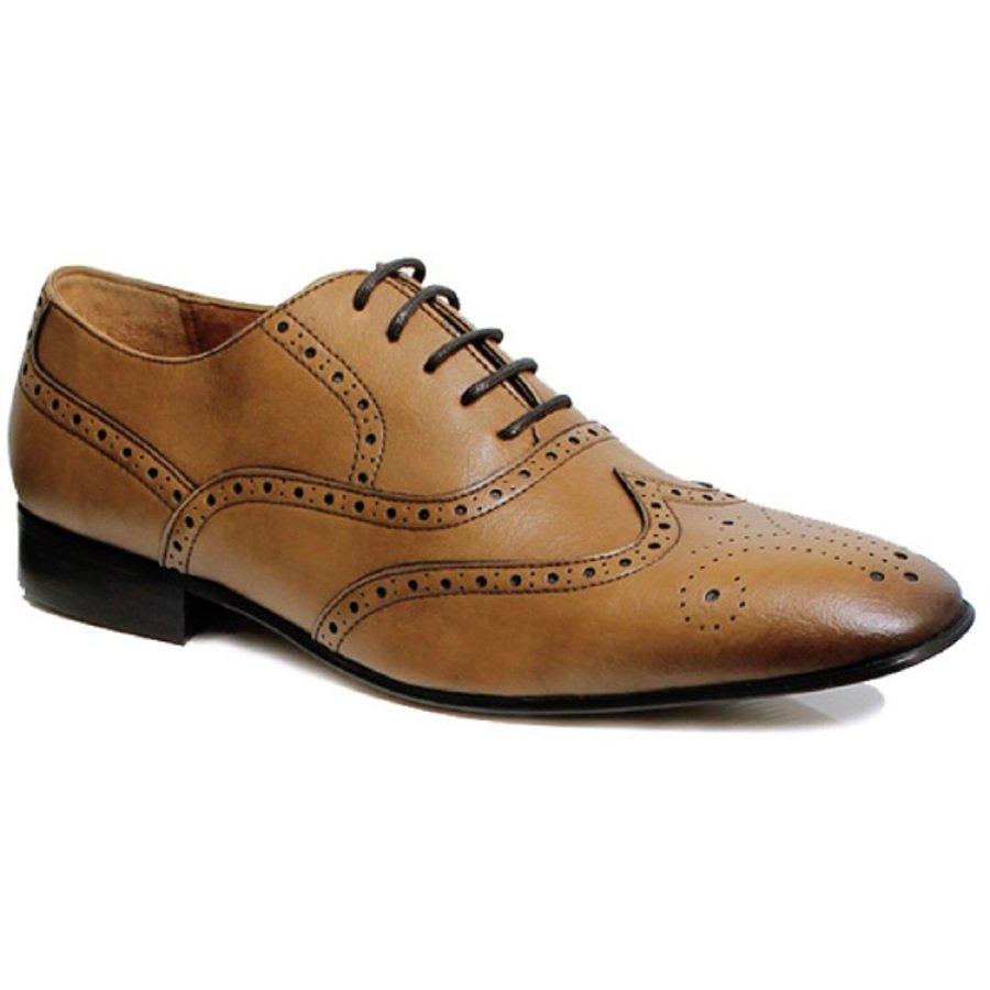 Wills London Mens Vegan Wingtip Brogue Oxford Shoes